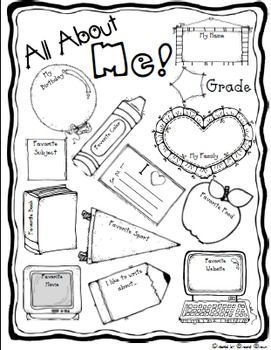 Sassy image in all about me page printable
