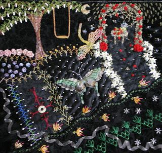 CRAZY QUILTING INTERNATIONAL: Jewels on black