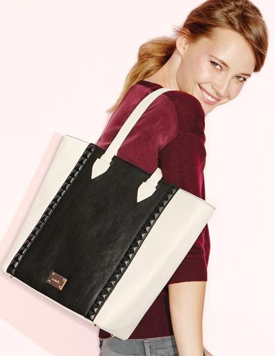 ¿Un bolso blanco y negro con elegantes remaches laterales? ¡Totalmente fabuloso!  #AvonRep