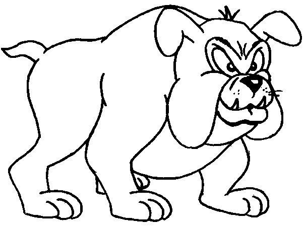 Bulldog Coloring Page Dog Pinterest