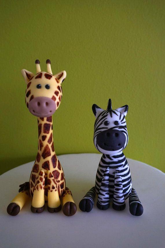 Safari Cake Toppers Fondant Safari Animal Cake Giraffe