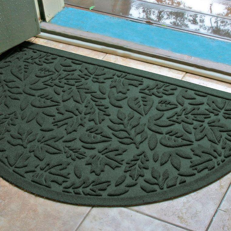 Water Dirt Shield Fall Day Half Round Door Mat Bluestone Frontgate Round Door Decor Front Door Mats