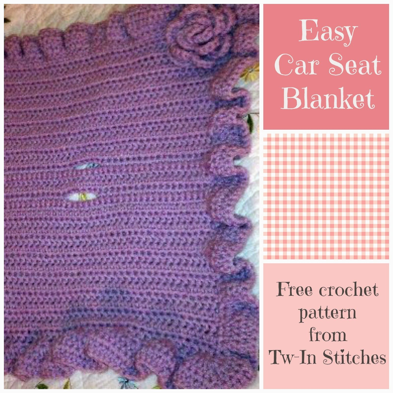 Tw-In Stitches: Easy Car Seat Blanket Pattern - Free Pattern ...