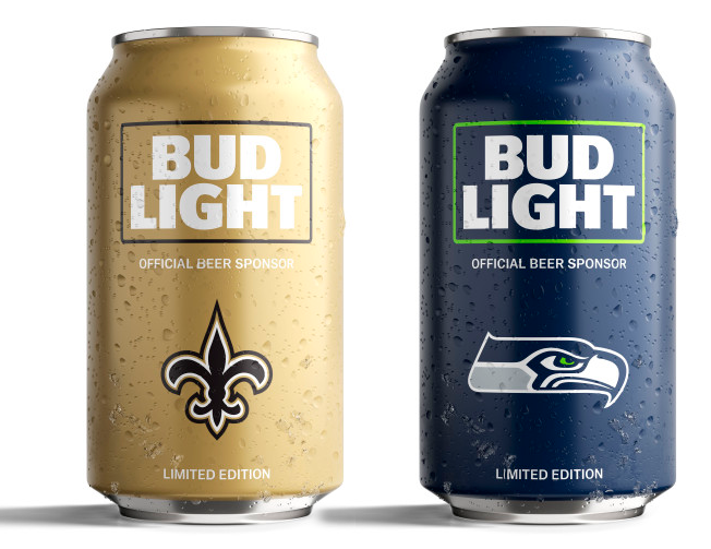 Bud Light S Popular Nfl Team Cans Are Back With A New Minimalist Design Bud Light Minimalist Design Canning