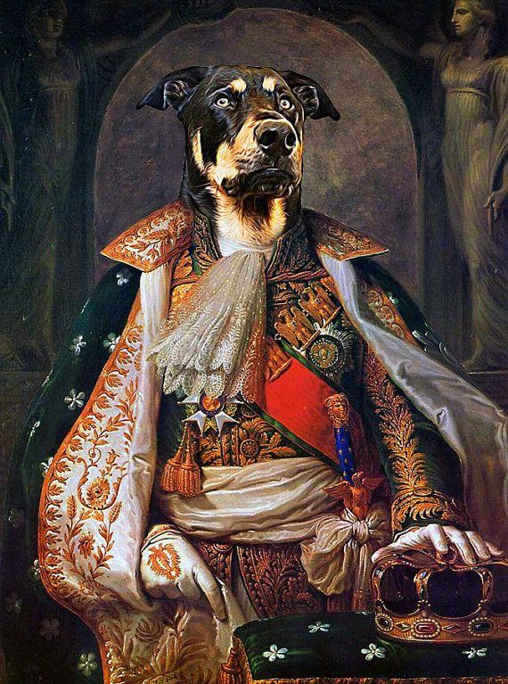 Napoleon Bonaparte Custom Pet Portraits Dog Portraits And Etsy In 2020 Bonaparte French History Napoleon