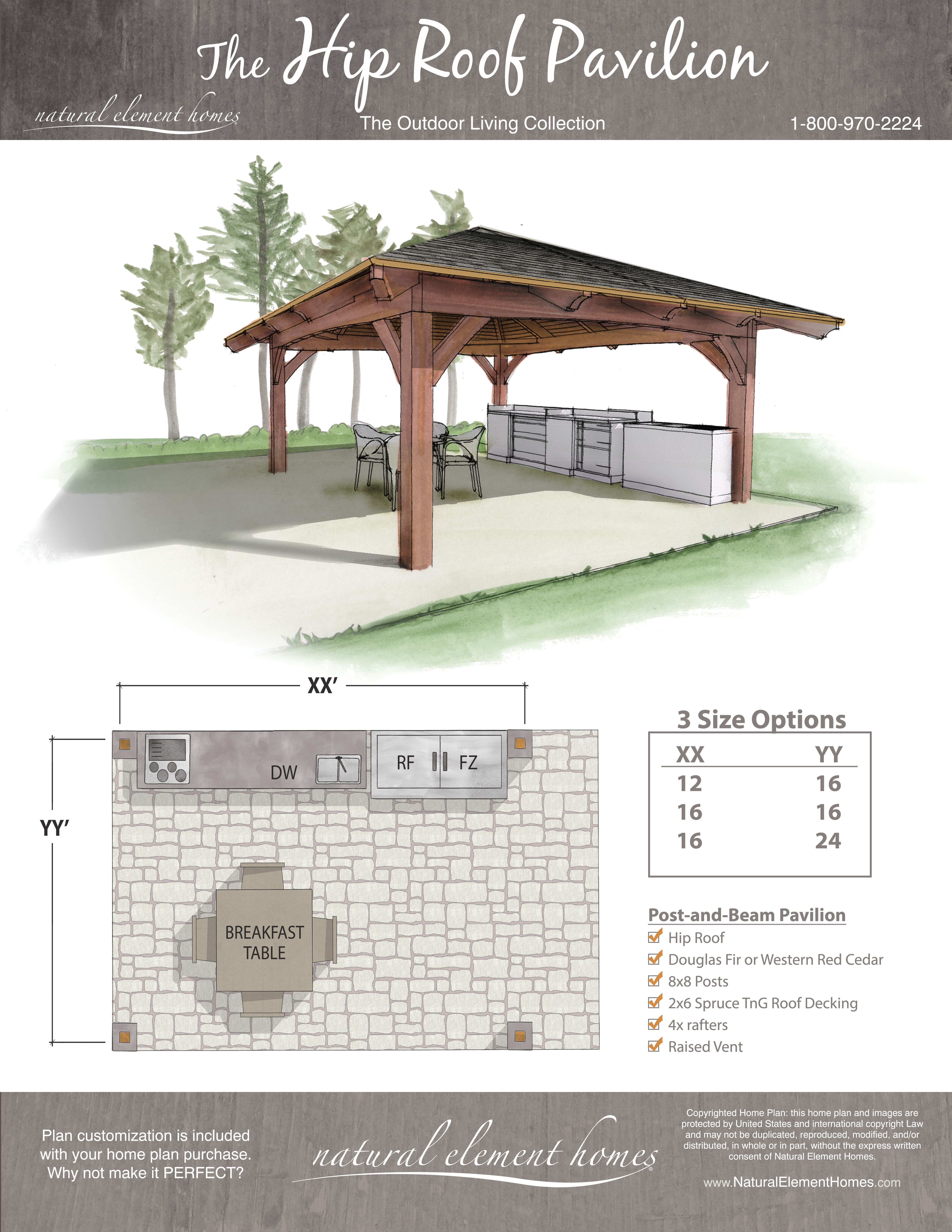Hip Roof Pavilion Pavilion Plans Outdoor Living Hip Roof