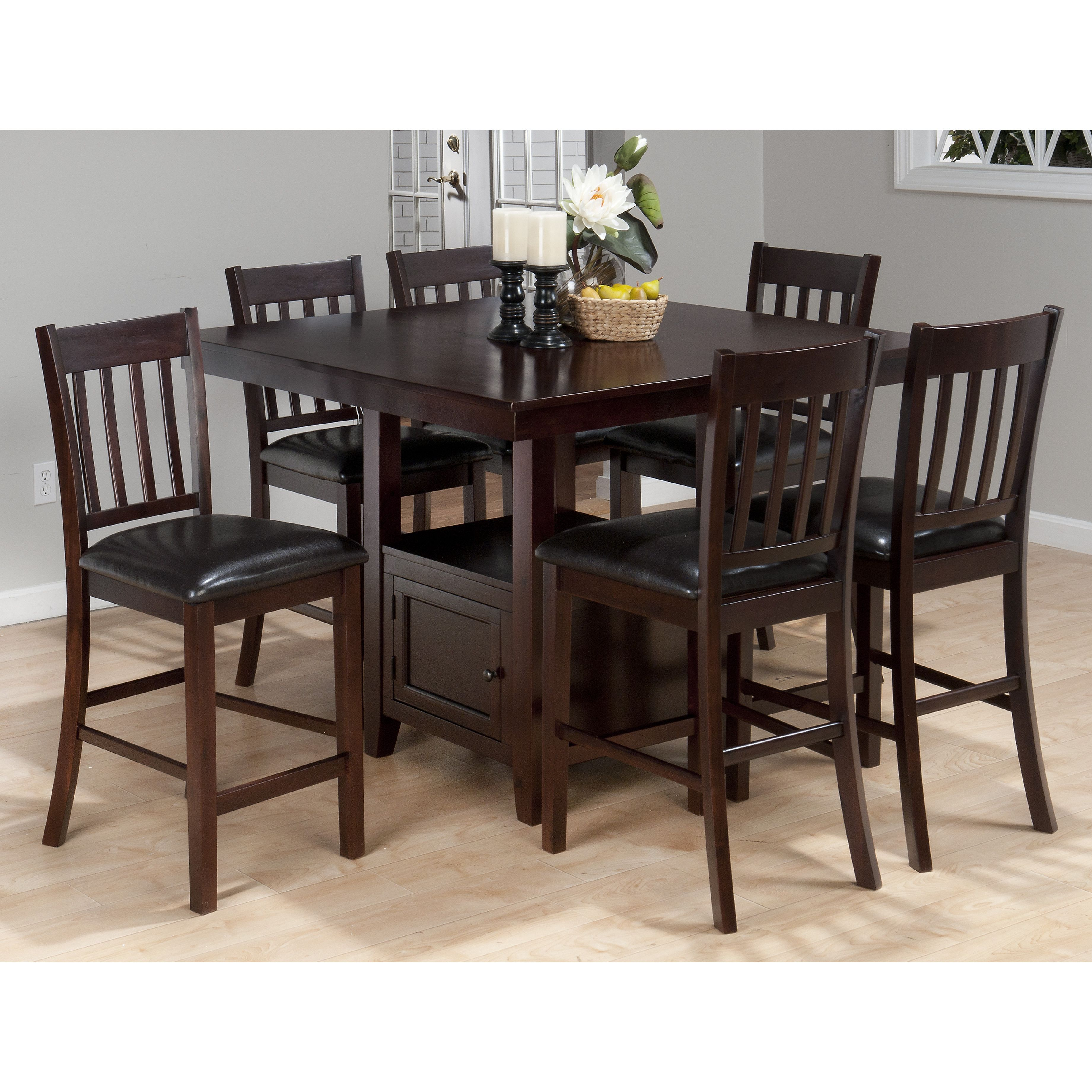 Buy Jofran Tessa Chianti Casual Counter Height Square Table And Bar Stool Set From National Furniture Supply At Lowest Price Great Service