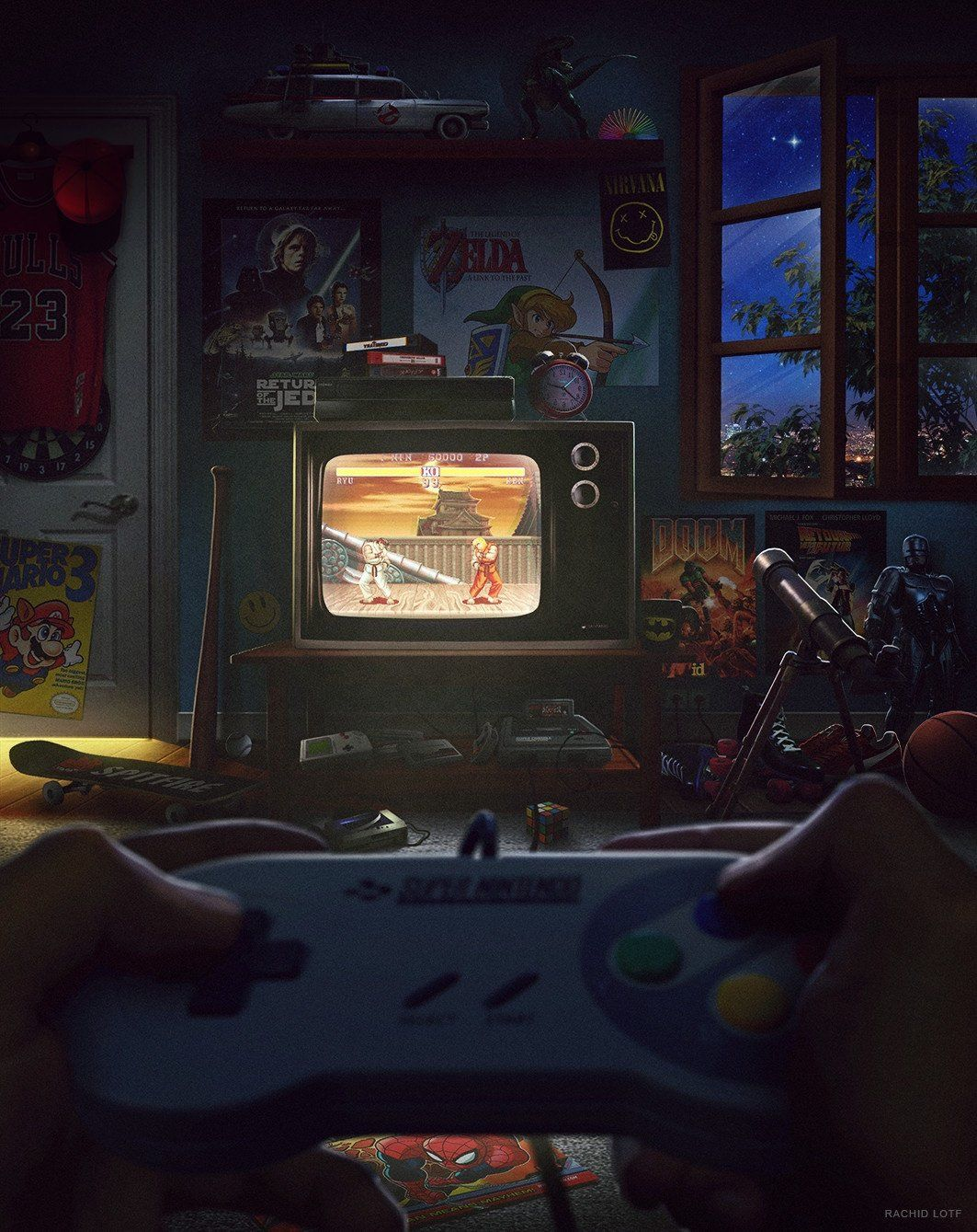 Los 90s Retro Gaming Art Retro Video Games Gaming Wallpapers