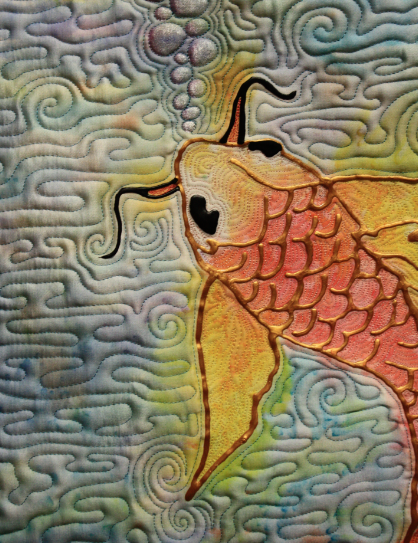 Inspiration For Painted Fabric Art Painting Quilts Art Quilts Fish Quilt Fabric Art