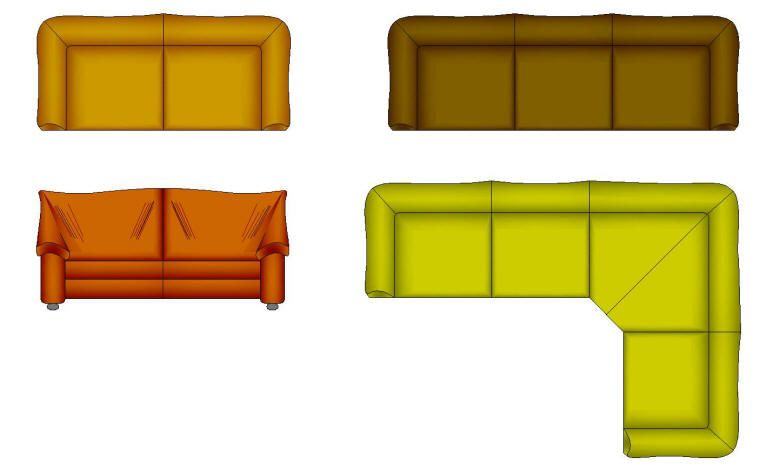 Couch Cad Drawing Drawing