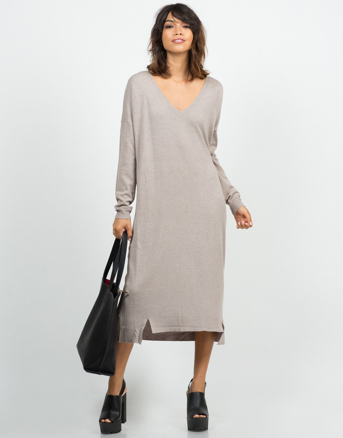 Long Sweater Dress | Long sweaters, Ootd and Clothes