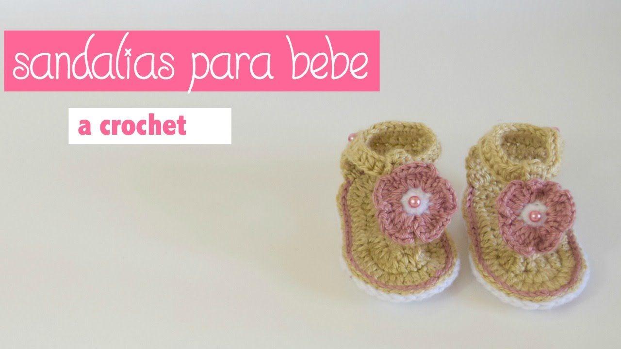 How 3 Como Tejer De To Bebes A Para 0 Crochet Meses Sandalias HW2YIDE9