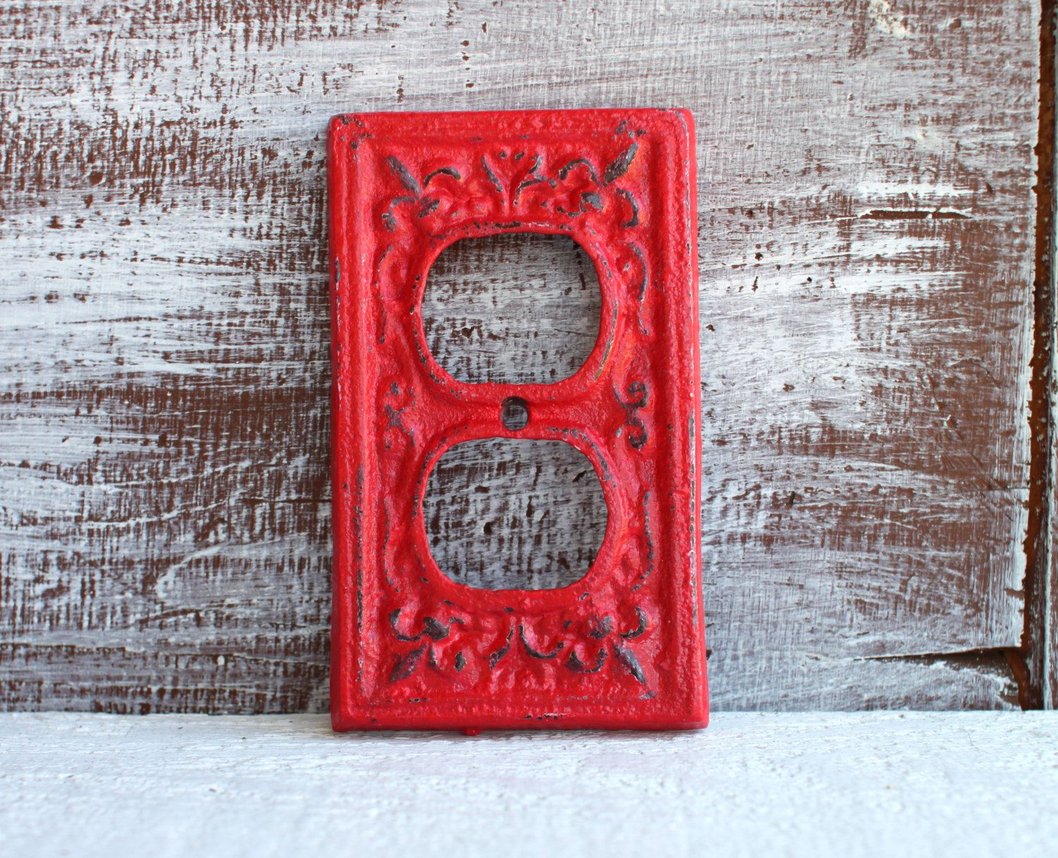 Outlet Cover Red Electrical Wall Outlet Cover Plate Cast Iron
