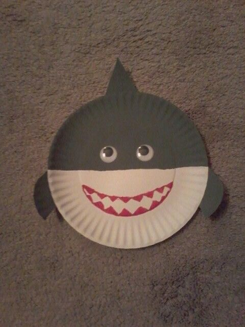 Paper Plate Shark Craft Shark Craft Under The Sea Crafts