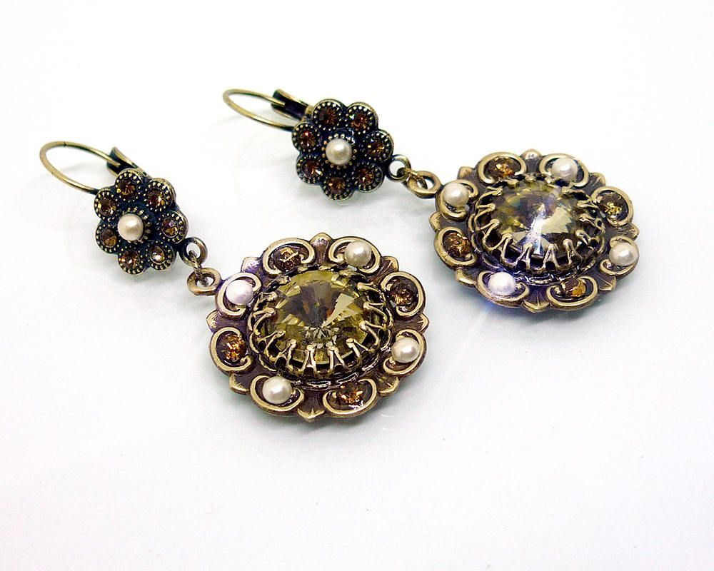 antique best decor rose gold aj earrings ideas victorian