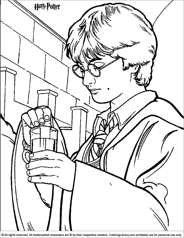 Harry Potter Coloring Page Color Pages Pinterest Harry The Coloring Page