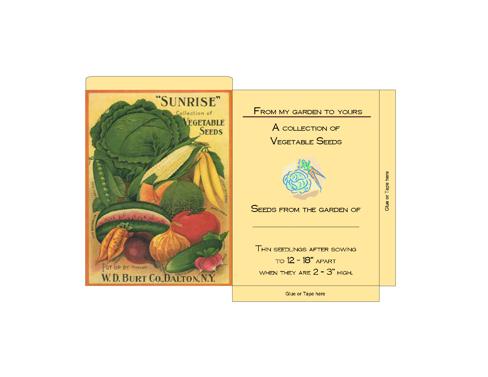 Vintage Seed Packet Clip Art