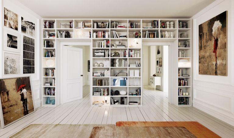 Parete libreria con porta La Casa Moderna Librerie a