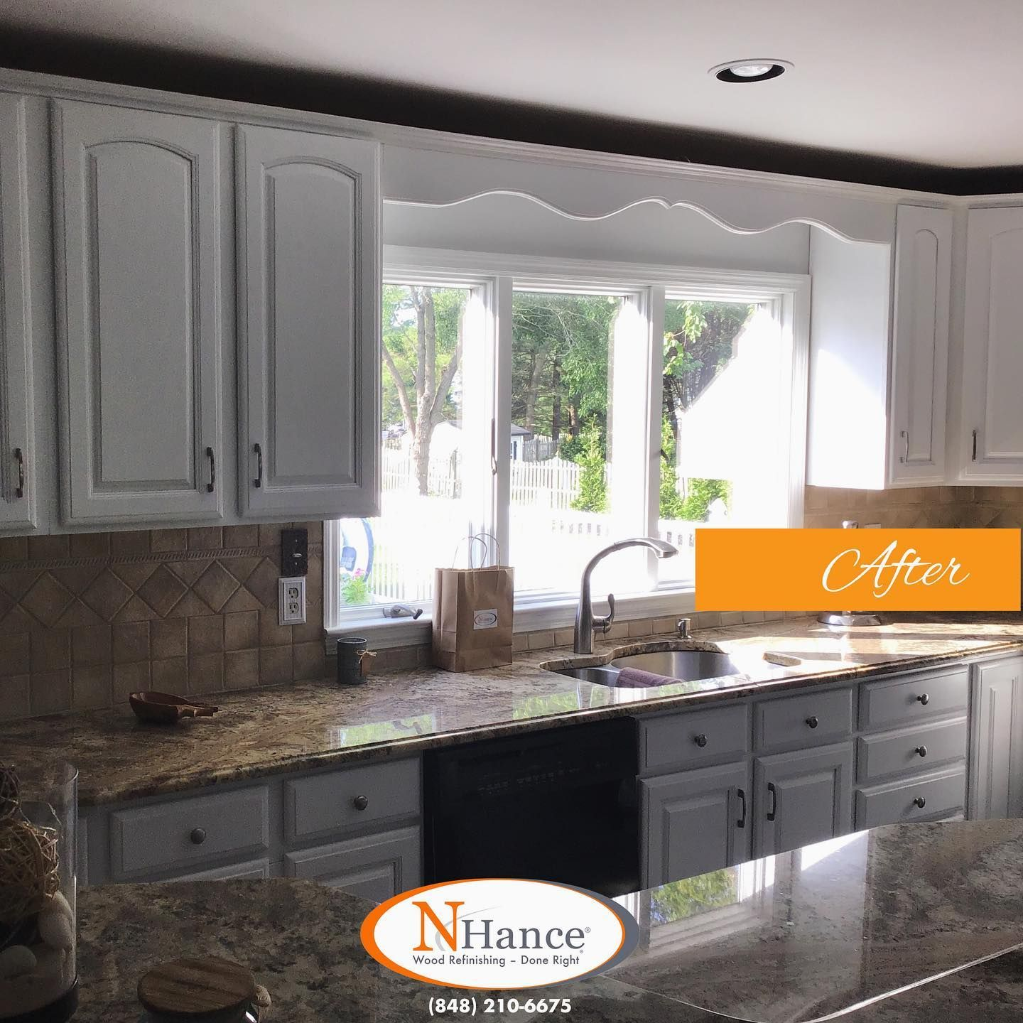 What A Transformation For This Redbanknj Kitchen The Oak Cabinets In This Kitchen Were No Longer Suitable For The Homeo In 2020 Kitchen Projects Oak Cabinets Cabinet