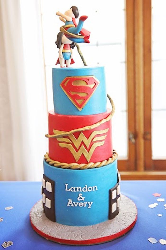 Comic Book Superhero Joint Birthday Party Joint birthday parties
