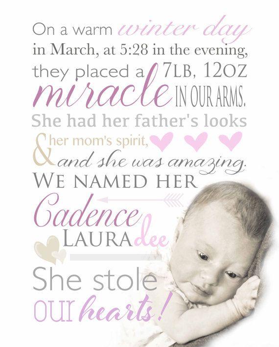 Nursery Birth Announcement Birth story Birth stats by babybaloo – Baby Girl Birth Announcement Quotes