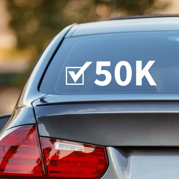 Are you a long distance runner? If you have or plan to compete in a 50K check it off your list with my new decal! See profile for a special offer too!  50K Decal, 50K Car Decal, Marathon Decal, Runner Decal, 50K Sticker, 50K, Laptop Sticker, Laptop Decal, Vinyl Decal, Gift for Runner, Runner by DesignsByTenisha