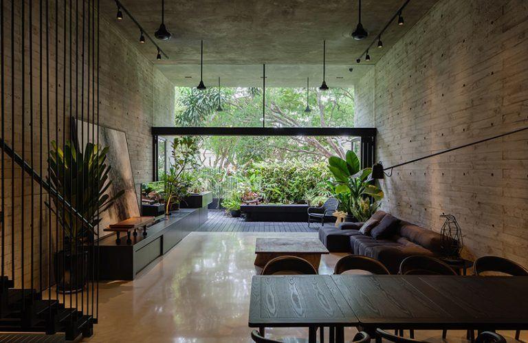 Formwerkz Incorporates Nature Seamlessly In Singapore Residence Through Porous Layout Design De Casa Designs De Quarto