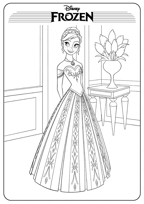 Frozen Anna Printable Coloring Pages For Kids In 2020 Disney Coloring Sheets Sailor Moon Coloring Pages Frozen Coloring Pages