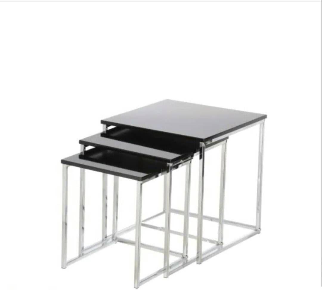 For Sale 3 Table Site Top Glass Black Color Price 11 Bd للبيع طاولات طقم لون اسود من اعلى زجاج بحالة جدا ممتازة السعر 11 Coffee Table Decor Furniture