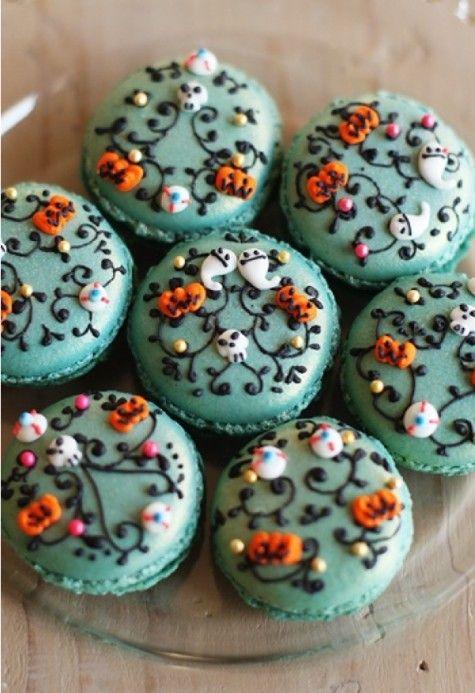 gorgeous halloween macaroons MUST HAVE NOW! (Halloween Bake - halloween baked goods ideas