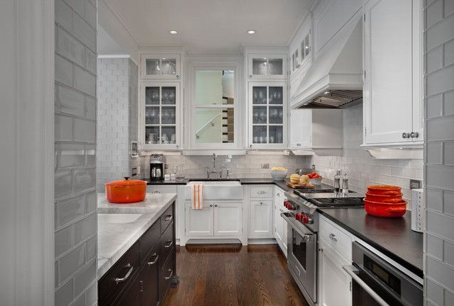 Incredible Glass Subway Tile Backsplash Houzz In Glass Subway Tile