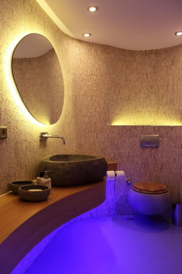 Sleek designed bathroom, with the best.. LED lighting - of course ...