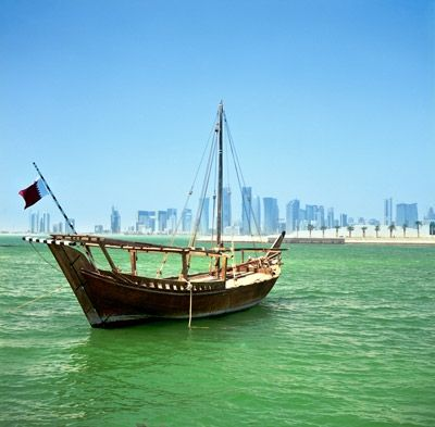 Doha, Qatar. Exotic locations with luxury yacht marinas.