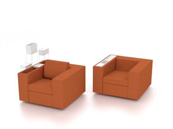 Sofa Link, design by Moura Martins Architects: the arm allows accessories #product #design