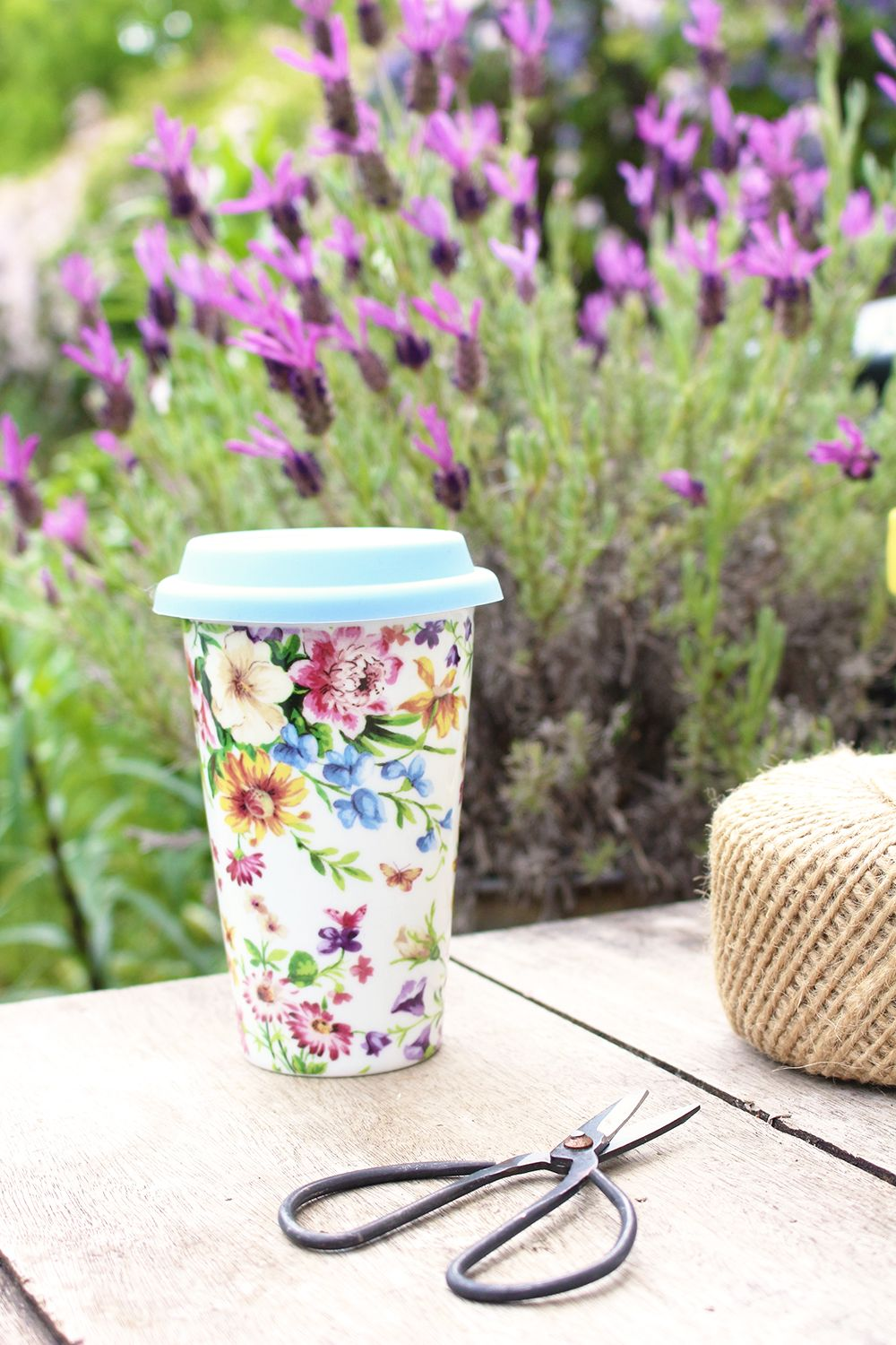 Katie Alice Cottage Flower Double Walled Travel Mug