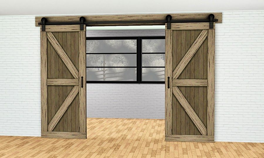 My Sims 3 Blog Roundpole Fence and Double Sliding Barn Door Arch by