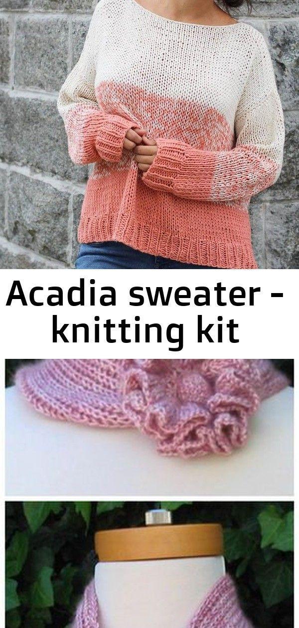 Photo of Acadia Sweater – knitting kit: knitting kit for beginners #easyknitting #knitt …