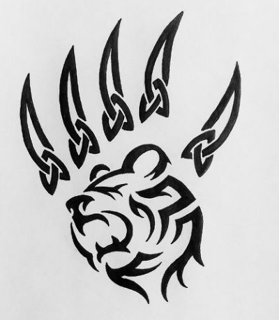 bear paws tattoo - Google Search | tats | Pinterest | Bear paw ...