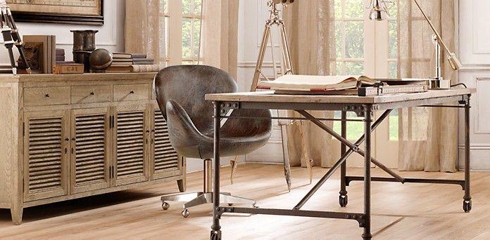Flatiron Desk Restoration Hardware Mesas De Comedor