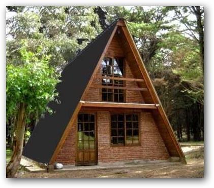 Arquitectura triangular casas peque as caba as buscar for Planos de cabanas campestres