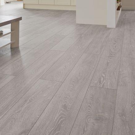 Professional V Groove Light Grey Oak Laminate Flooring House Ideas