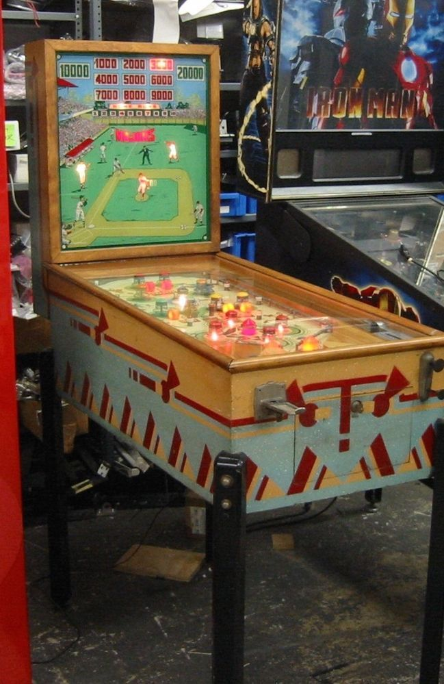 1939 Antique Pinball Game Chicago Coin Majors Woodrail Baseball Nr Allentown