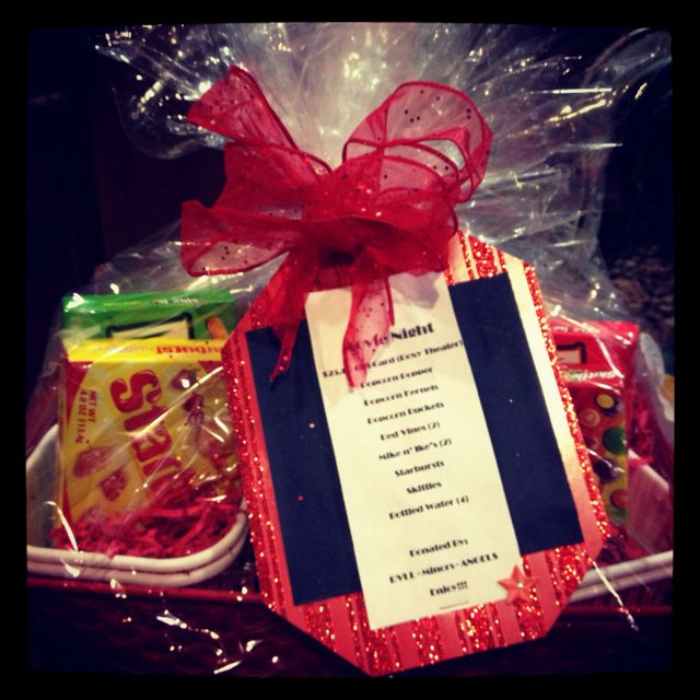 Wedding Night Basket Ideas: Raffle Prize Idea- Movie Night Basket Has A Few Boxes Of