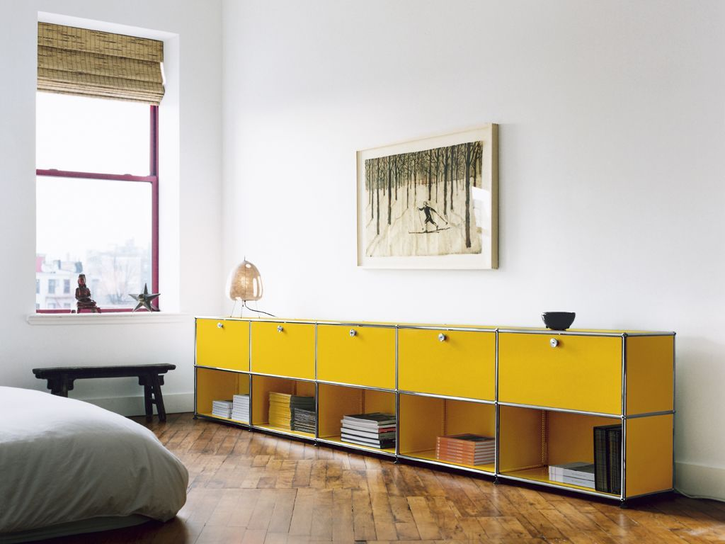 USM Haller sideboard in golden yellow for your home office or living ...