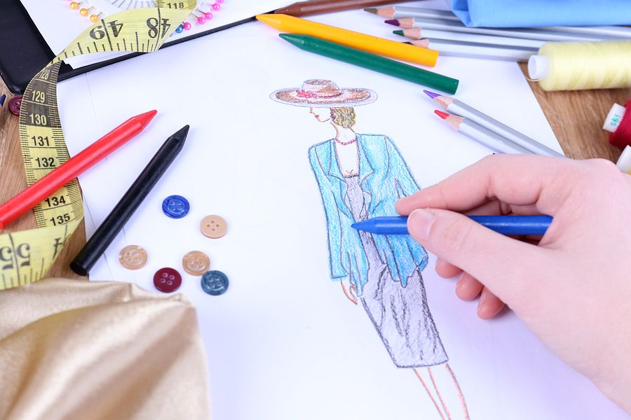 Fashion designer close up. Trend is really all about what is next and new