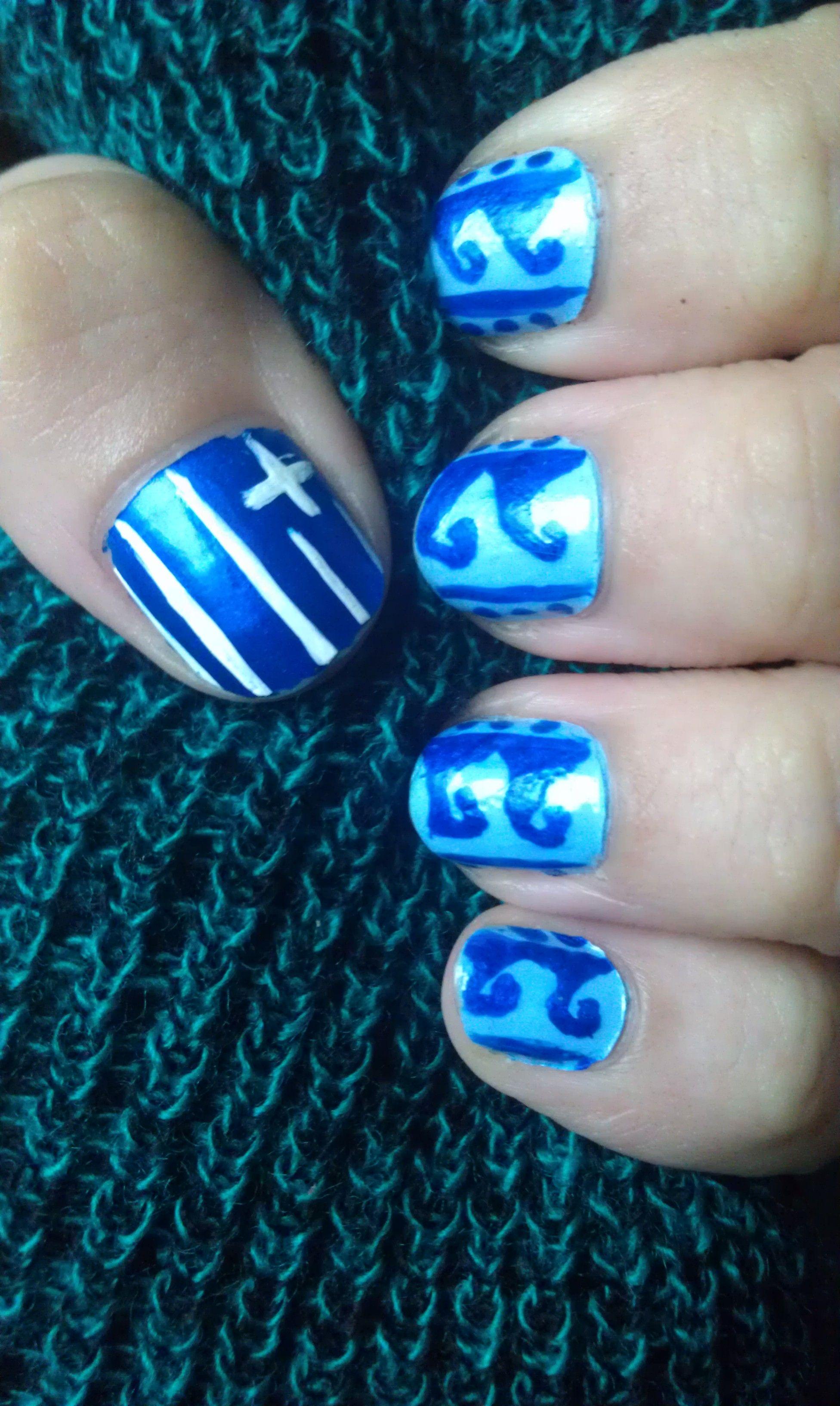 Niedlich Greek Nagelkunst Bilder - Nagellack-Ideen ...