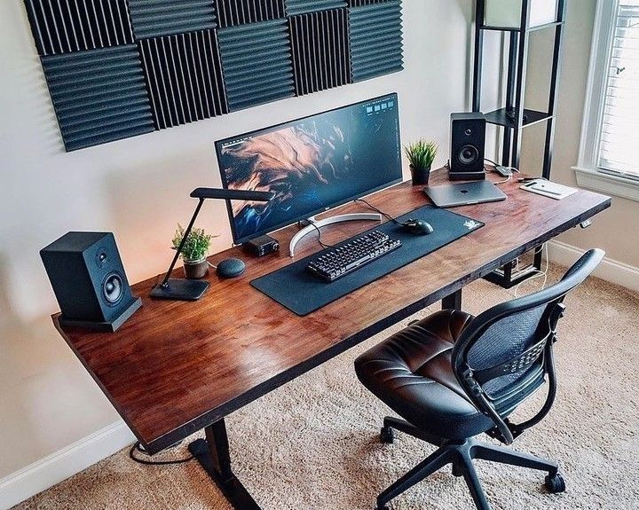 Best Computer Chair For Long Hours Of Sitting Office Setup Ideas Inspiration Ergonomic Concept In 2020 Home Office Setup Room Setup Office Setup