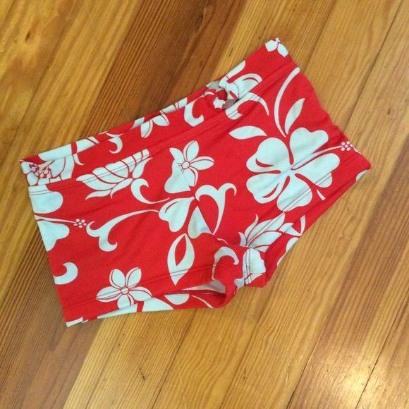 Bikini Bottom Shorts Size 3-4. Cute pattern. Lotus blossom. Made of swim suit material with reinforced stitching.  PacSun Swim Bikinis