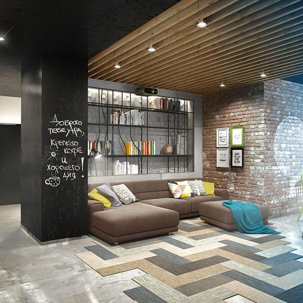 loft by martinarchitects by evgeniya dubrovskaya via behance arquitectura pinterest. Black Bedroom Furniture Sets. Home Design Ideas