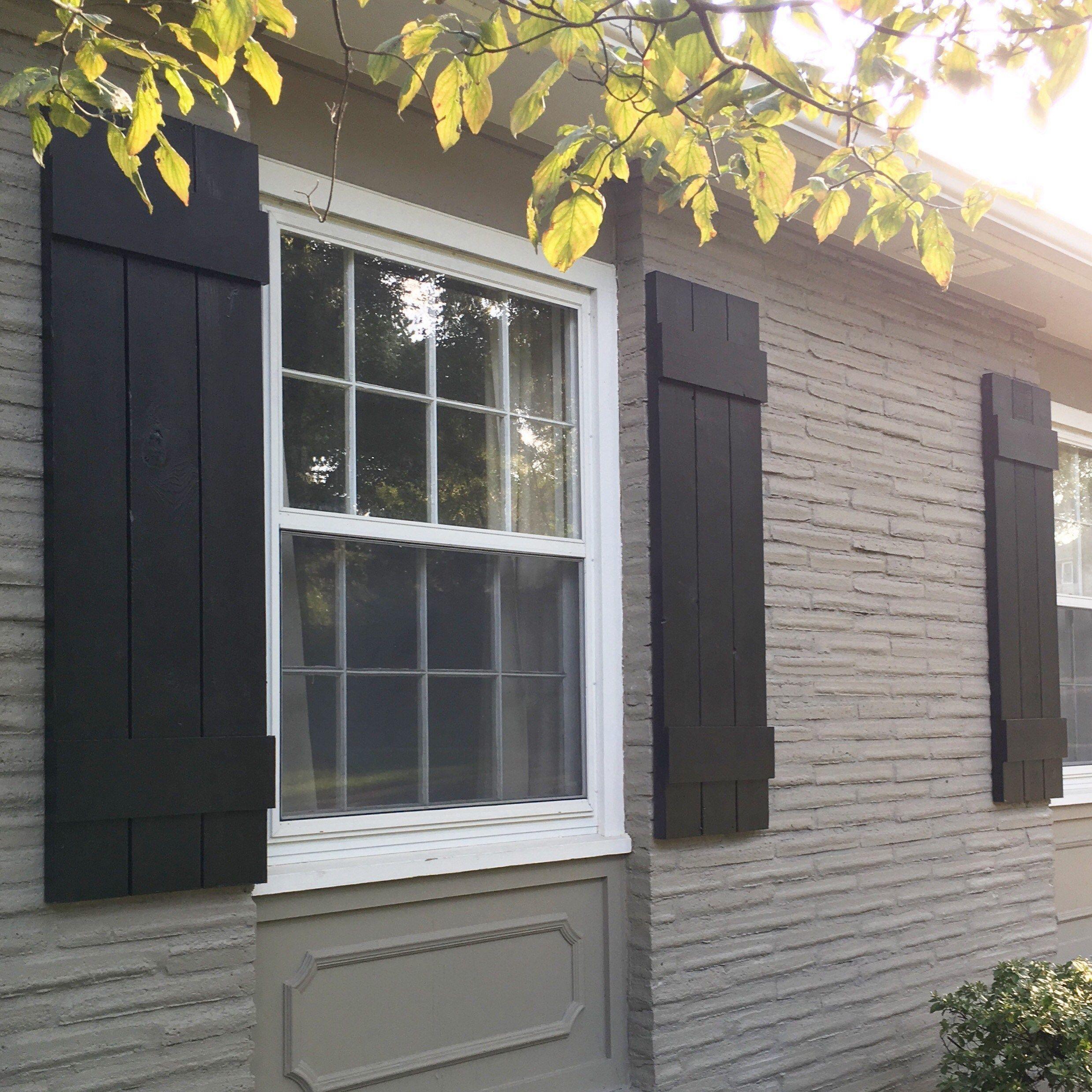 Diy Window Shutter Craftsman Exterior Shutters Exterior Window ...